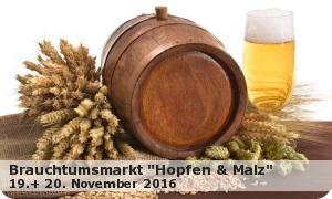 """Brauchtumsmarkt 2016 """"Hopfen und Malz"""""""